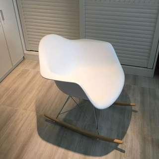 White Rocking Chair w/ Arm Rest OC-11A