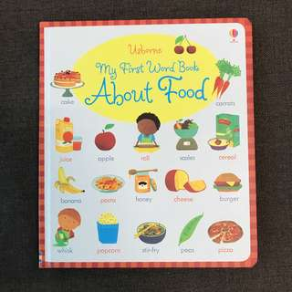 Usborne My First Word Book About Food
