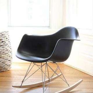 Black Rocking Chair w/ Arm Rest OC-11B