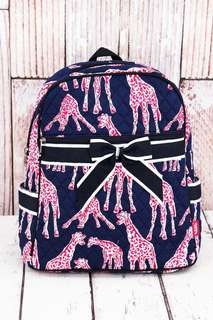 JUST ARRIVED! Giraffes Quilted Backpack