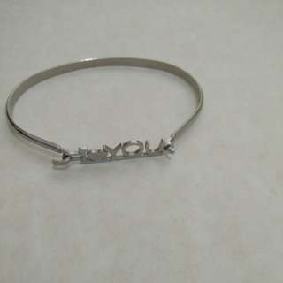 I love you stainless steel bangle