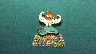 Merman Enamel Pin