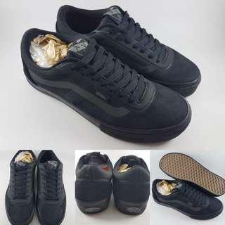 Sepatu Kets Skate Vans Old Skool AV Rapidweld Pro Full Black Hitam