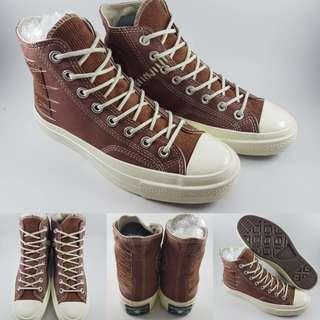 Sepatu Kets Converse Allstar 1970s Seventies Canvas Suede Brown Coklat
