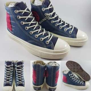 Sepatu Converse Allstar 1970s Seventies Canvas Suede Blue Red Biru Merah
