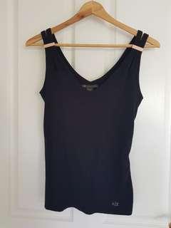 Armani Exchange black singlet
