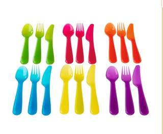 NEW IKEA 18pc Assorted Color Cutlery Set (Singapore)