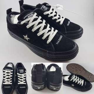 Sepatu Kets Converse One Star Suede Madness Madnologies Black White Hitam  Putih f0a093d1b