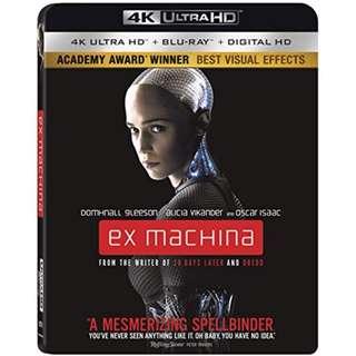 Ex Machina 4K Ultra HD Blu-rays