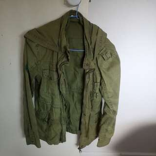 GHANDA khaki light coat jacket