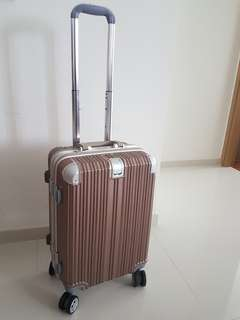 Rose Gold Cabin Luggage 20inch