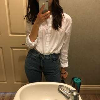 Linen white blouse