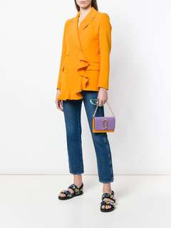 Marc Jacobs Snapshot Chain wallet - lavender purple x orange