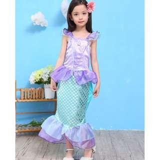 Disney Mermaid Ariel Dress Princess Costume