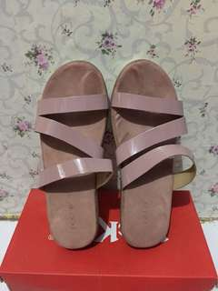 Noche wedges dusty pink