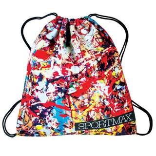旅行/運動用品 - 全新 Sportmax 紅色 潑墨圖案索繩背包
