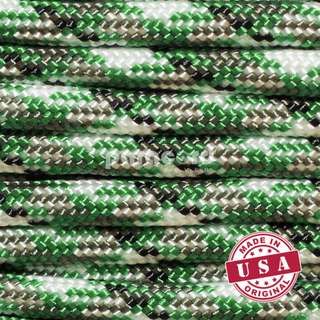 High Quality Genuine USA Nylon Type III 550 Survival Paracord Rope for Camping, Knitting & Handmade DIY Bracelet - Kelly Camo