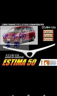 Toyota Estima Chrome Front Logo for Bonnet
