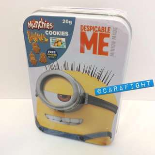 Minions Cookies, Biscuits, Mr Munchies, Banana Flavoured, Metal Box