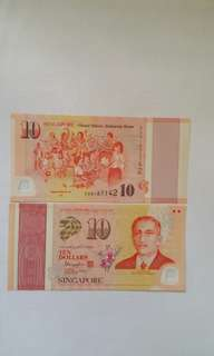 SG50 $10/= Notes in 2 run