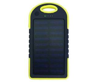 3 In 1 Solar Power Bank 5000mAH With 20 LED Light Panel