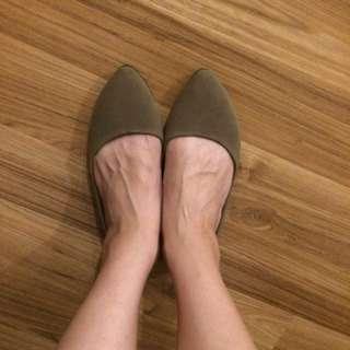 🚚 平底鞋 咖色/38