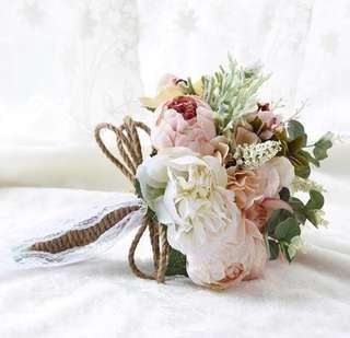 Bridal Wedding Floral Bouquet Faux Flowers