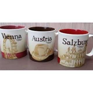 代購 奧地利 維也納 薩爾茨堡 星巴克 城市盃/隨行杯 107/7/24回國