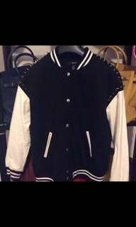 REDUCED STUDDED VARSITY JACKET