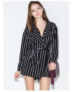 Stripes Blazer Jumpsuit