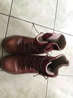 Timberland Red Winter Boots