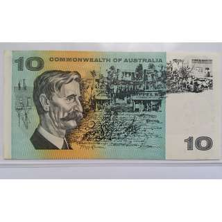 Australia $10 Paper Banknote  - Coombs/Wilson. Commonwealth of Australia Year 1966