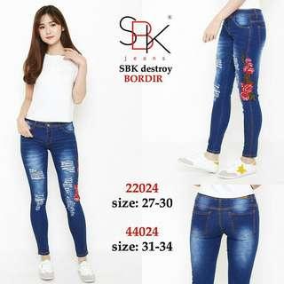 Size 27-34 Jeans Premium SBK Jeans Bordir Destroy Jeans jumbo 22024-44024