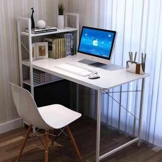 Computer Desk w/ Shelf White Color OD-04A