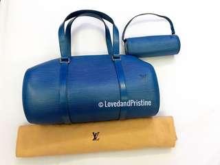 Louis Vuitton Epi Leather Papillon in Blue