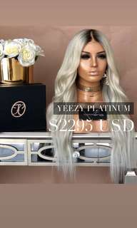 Freedom couture Yeezy Platinum human hair wig