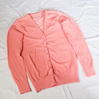 Cardigan Basic Warna Salem