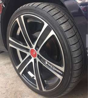20 Inch Rims with Kumho Tyres (Hiace/NV)