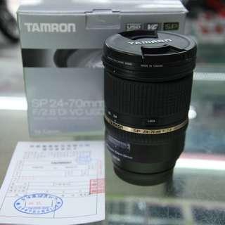 TAMRON SP 24-70mm F/2.8 DI VC USD A007 (公司貨) for canon