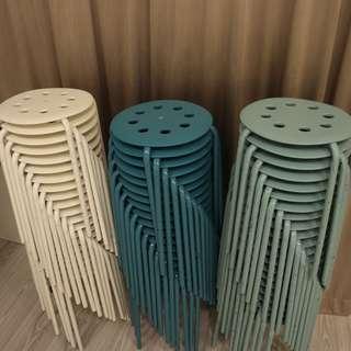 IKEA Marius Stool (White, Teal, Blue)