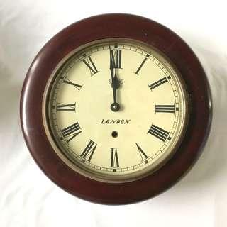 Genuine Antique Mahogony mid-1800s Wall Clock