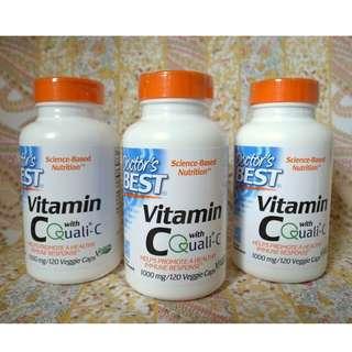 【現貨】Doctor's Best│維他命C (Quali-C) 1000mg 120粒│素食 Vitamin C