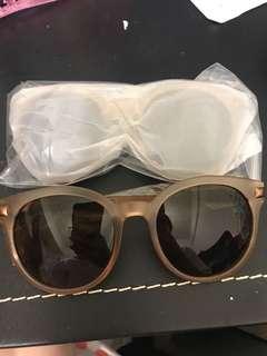 全新 茶色 復古太陽眼鏡