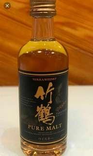 日本竹鶴NAS威士忌酒辦50mI一支。