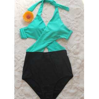 Two Toned One-Piece Swimsuit