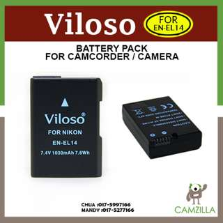 Viloso EN-EL14 Li-Ion Battery for Nikon D5300 D5200 D5100 EN-EL14
