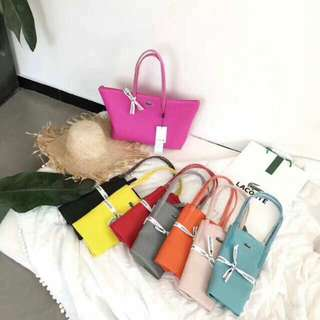 LACOSTE TOTE HAND BAG