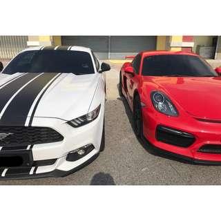 Ford Mustang & Porsche Cayman 981 GT4 bodykits
