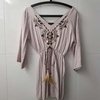 Bohemian Embriodery Dress