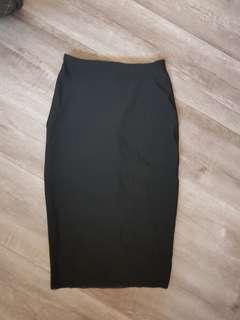 Bec and bridge skirt mesh black pencil